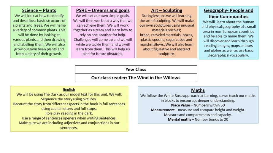 Curriculum overview spring 2 2020 year 1